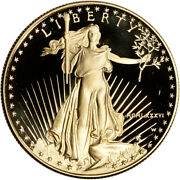 1986-w American Gold Eagle Proof 1 Oz 50 - Coin In Capsule