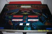 Backglass For Pinball High Speed Williams