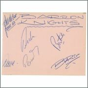 The Barron Knights 1960s Signatures Autographs Single Page Uk