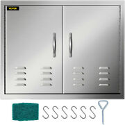 30 Double Access Door Outdoor Kitchen Stainless Steel Bbq Island With Vents
