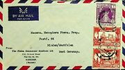 Burma 1961 3 Vals On Nice Airmail Cover To Germany-n45484
