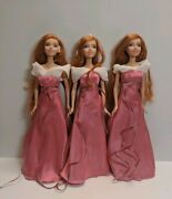 Disney Enchanted Giselle Doll Lot Of 3 Mattel Great Condition Complete