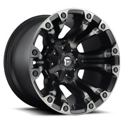 4 17x9 Fuel Black W/ Ddt Vapor Wheel 5x139.7 And 5x150 For Ford Jeep Toyota Gm