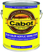 Cabot Solid Color Acrylic Siding Stain 800 Series 1 Gallon 54 Color Options