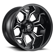 4 22x12 Fuel Gloss Black And Mill Avenger Wheel 6x135 6x139.7 For Toyota Jeep