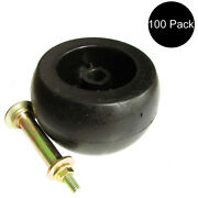 100 Anti Scalp Deck Wheel Rollers W/ Hardware For 103-3168 Fits Exmark Mower 103
