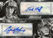 Star Wars Anh Black And White Dual Autograph Card Jack Klaff And Angus Macinnes
