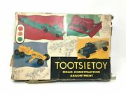 Tootsie Toy Road Construction Assortment No. 6000, Vintage 1950's With Box