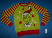 Size S Juniors / Womens Ugly Christmas Sweater Dr. Seuss Smile