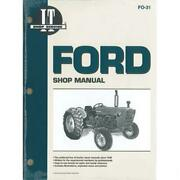 Iandt Shop Manual Fo31 Fits Ford 2000 3000 4000 3 Cyl. 1965-1975 Tractor