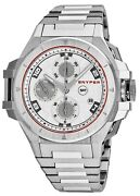 Snyper Ironclad Automatic Chronograph Ss Silver Dial Menand039s Watch Model 50.000.0m