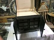 M41 Vintage Egyptian Wood Jewelry Box Inlaid Mother Of Pearl Handmade 11.2 Inch