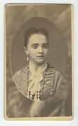 Cdv Studio Portrait Lady From Fort Plain, Ny, By Wentworths