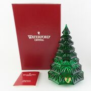 Waterford Crystal Green Christmas Tree Sculpture 6 1/2 Fabulous Addition