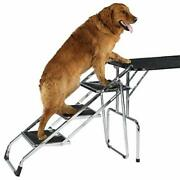 Master Equipment Steel Portable Pet Stairs - Sturdy Fold Flat Stairs Help Older