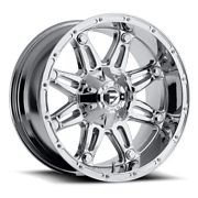 4 22x9.50 Fuel D530 Chrome Hostage Wheels 6x135 6x139.7 For Ford Toyota Jeep