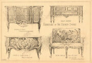French Empire Furniture. Commode Dubois Settee Louis Xiv Cafferi Wallace 1902