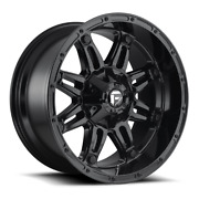 4 20x12 Fuel Gloss Black Hostage Wheels 6x135 6x139.7 For Ford Toyota Jeep