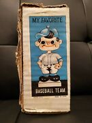 Vintage 1970and039s Milwaukee Brewers Empty Bobblehead Box My Favorite Baseball Team