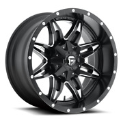 4 17x9 Fuel Black And Mill Lethal Wheels 6x135 And 6x139.7 For Ford Toyota Jeep