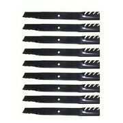 Set Of 9 Toothed Mulching Blades For Various 72 Cut Mower Decks