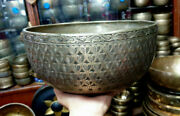 Master 11 Inches Antique Jambati With Beautiful Carving Singing Bowl From Nepal