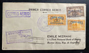 1929 Colon Panama First Flight Airmail Cover To Buenos Aires Argentina Mizrahi