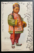 1906 Brooklyn Ny Usa Picture Postcard Cover To Potsdam Germany Chinese Boy