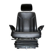 Ts1085c New Mechanical Suspension Tractor Seat W/ Headrest Armrests Seatbelts +