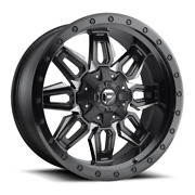 4 20x9 Fuel D591 Black And Milled Neutron Wheels 6x135 6x139.7 For Toyota Jeep