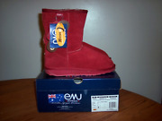 Emu Australia Women's Bronte Low Boots Ruby Red Size 7.....brand New