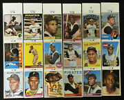 1980s Roberto Clemente Collection Baseball Cards Stickers Strips