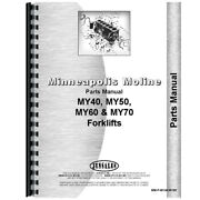 New Parts Manual Made For Minneapolis Moline Forklift Model My60