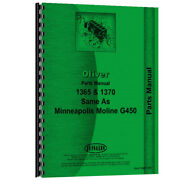 Parts Manual Made For Minneapolis Moline Tractor Model G450
