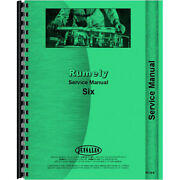 Service Manual For Rumely 6-a Tractor