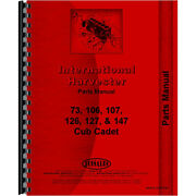 Tractor Parts Manual For International Harvester Fits Cub Cadet 147 Tractor