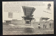 Mint France Real Picture Postcard Early Aviation Triplane Melvin Vaniman