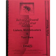 Planter And Middle Buster Cultivator Parts Manual For International Harvester 80