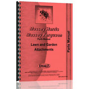 Tractor Attachment Tractor Parts Manual Fits Massey Ferguson Lawn Garden