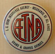 Aetna Insurance Company Celluloid Pocket Mirror, St Louis