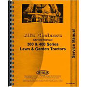 Service Manual Fits Allis Chalmers 300 Lawn And Garden Tractors