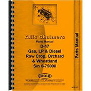 New Tractor Parts Manual Fits Allis Chalmers D17 Tractor 0-75000