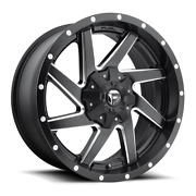 4 20x9 Fuel D594 Black And Mill Renegade Wheels 6x135 6x139.7 For Toyota Jeep
