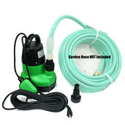 1-1/4hp Submersible Sump Pump Dirty Clear Water Pool Pond Drain W/ Hose Adapters