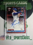 2019 Topps Chrome Baseball Will Smith Red Wave Rookie On Card Auto /5 Dodgers