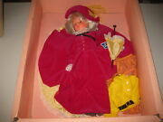 Vintage 1966 Italocremona Doll 18 From Italy W/ Red Dress Umbrella New In Box