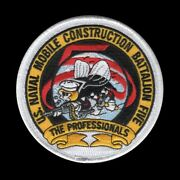 Seabee Mobile Construction Battalion Nmcb 5 Patch Us Navy Pin Up Port Hueneme
