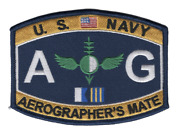 4.5 Navy Ag Aviation Aerographerand039s Mate Embroidered Patch