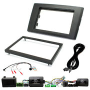 Car Stereo Fitting Kit + Amp Bypass And Park Tone Restore For Volvo Xc90 2004-14