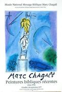 Jacobs Ladder Marc Chagall 1977 Vintage French Galerie Poster Stone Lithograph